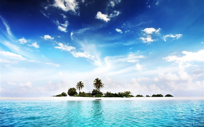 Water island-landscape wallpaper selection Views:9782