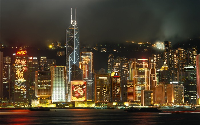 Pearl of the Orient - Hong Kong landscape wallpaper Views:17770