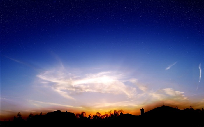 Wispy Sunset-Nature Landscape Desktop Wallpaper Views:6779