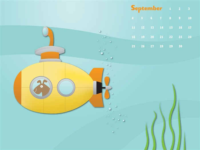 Yellow Submarine-September 2011-Calendar Desktop Wallpaper Views:5138