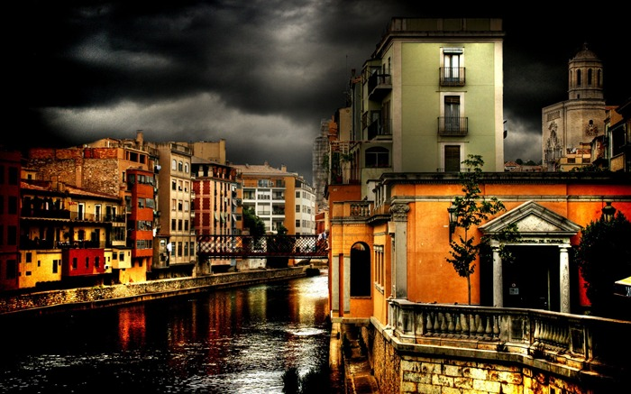 HDR Spanish cities Landscape Tour Wallpaper Views:15476
