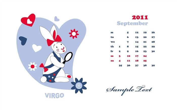 virgo-September 2011-Calendar Desktop Wallpaper Views:3103