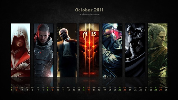 AB Game-October 2011 - calendar wallpaper Views:5433