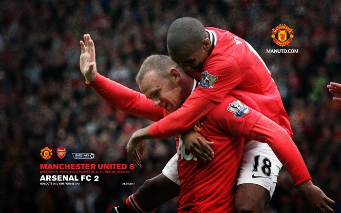 Arsenal 2 Manchester United 8-Star-Premier League matches in 2011 Views:6809
