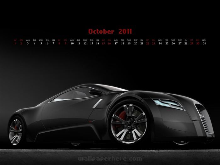 Black Car-October 2011 - calendar wallpaper Views:5961