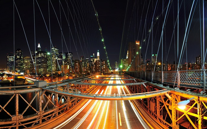 Brooklyn Night Traffic-Travel in the world - photography wallpaper Views:7692