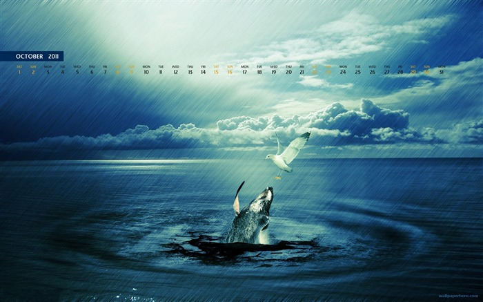 October 2011 - calendar wallpaper - second series Views:9667