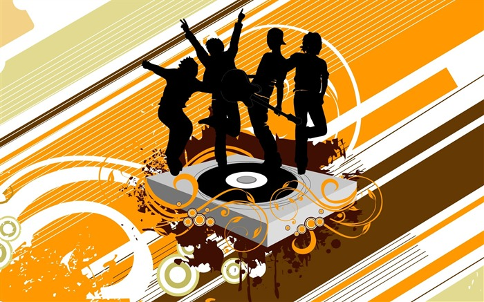 Dancing DJ-Illustration Design Desktop Wallpaper Views:10211