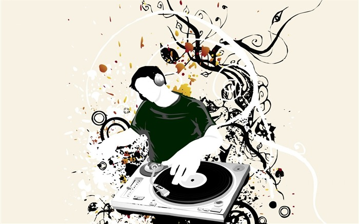 Dj Vector-Illustration Design Desktop Wallpaper Views:24109