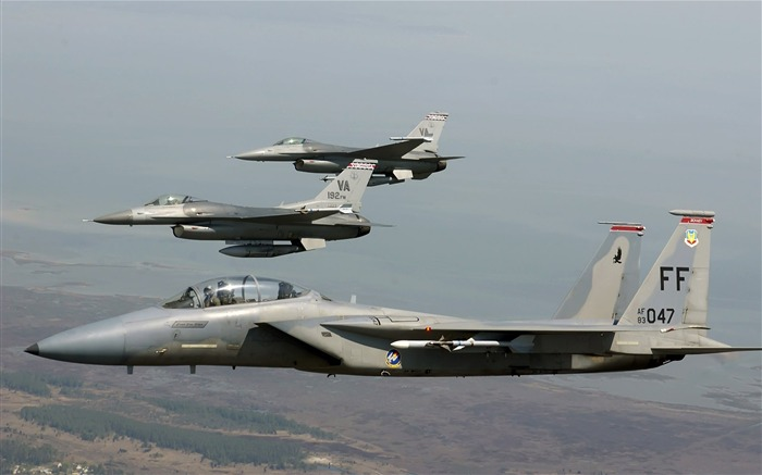 F 15 Eagle joined F 16 Fighting Falcons-Years of peace-military aircraft Views:4365