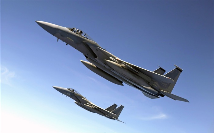 F 15 Eagles Fly Over the Pacific Ocean-Years of peace-military aircraft Views:3973