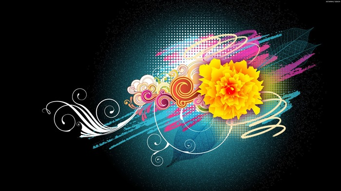 Flower Vector Designs-Illustration Design Desktop Wallpaper Views:9252