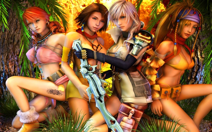 Girls Sexy-Classic game Final Fantasy Wallpaper Views:138608