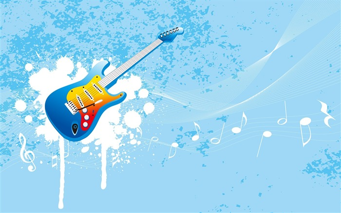 Guitar Vector-Illustration Design Desktop Wallpaper Views:7478