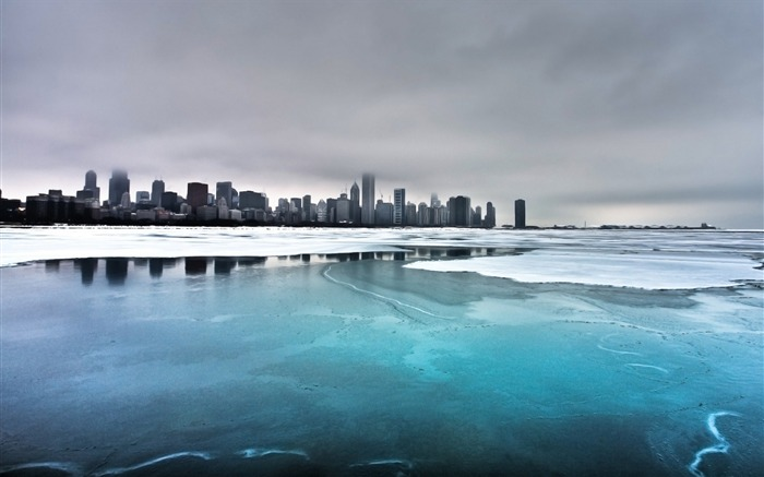 Ice City Lake-Travel in the world - photography wallpaper Views:4632