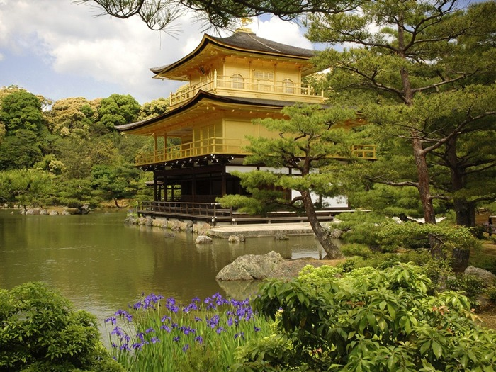 Kinkaku Ji Temple Kyoto Japan-Travel in the world - photography wallpaper Views:5619