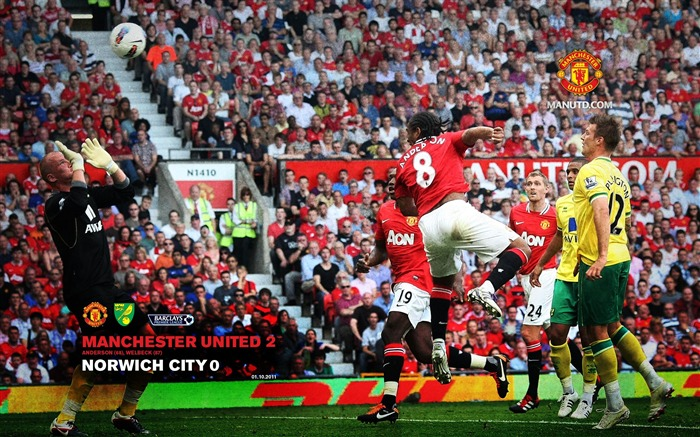 Manchester United 2 Norwich 0-Star-Premier League matches in 2011 Views:5402