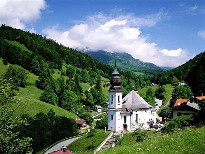 Maria Gern Church Germany-Travel in the world - photography wallpaper Views:7617