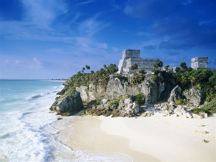 Mayan Ruins Tulum Mexico-Travel in the world - photography wallpaper Views:5954