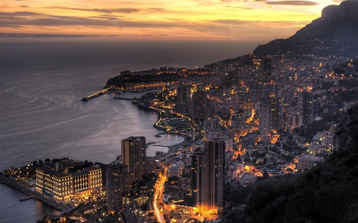 Monaco in Twilight-Travel in the world - photography wallpaper Views:4606