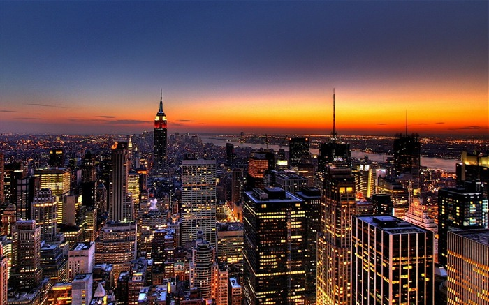 New York Skyline-Travel in the world - photography wallpaper Views:14578