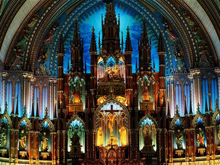 Notre Dame Basilica Canada-Travel in the world - photography wallpaper Views:6732