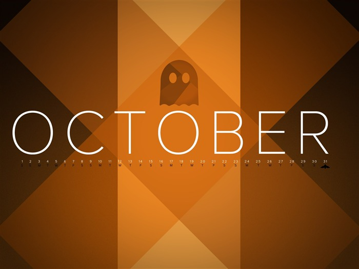 Octobre 2011 - Desktop Calendar Wallpaper Vues:7641