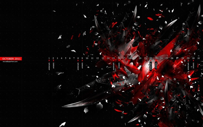 Pieces-October 2011 - calendar wallpaper Views:4817