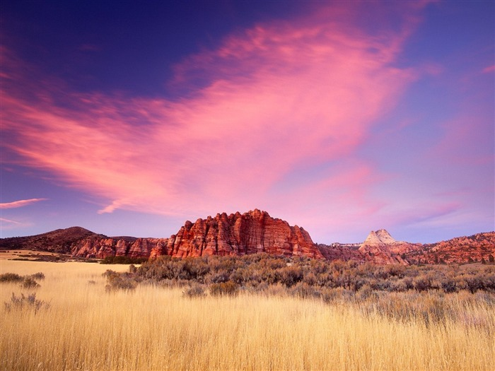 Sandstone Formations at Sunset-Beautiful natural scenery wallpaper Views:4433