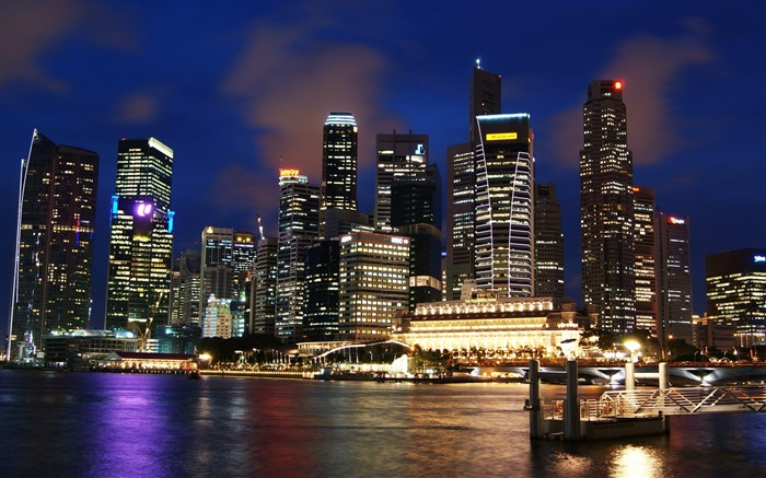 Skyline of Singapore-Travel in the world - photography wallpaper Views:10492