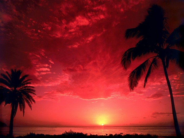 South Pacific Sunset-Beautiful natural scenery wallpaper Views:7254