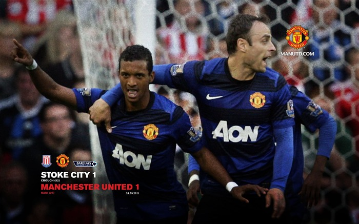 Stoke City 1 Manchester United 1-Premier League matches in 2011 Views:4558