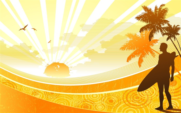 Sunshine -Illustration Design Desktop Wallpaper Views:4206