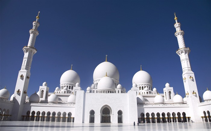 sheikh zayed grand mosque abu dhabi-Architecture Decoration landscape wallpaper Views:18108