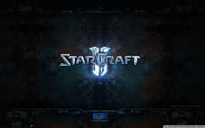 Classic strategy game - StarCraft II game Desktop Wallpaper Views:7679