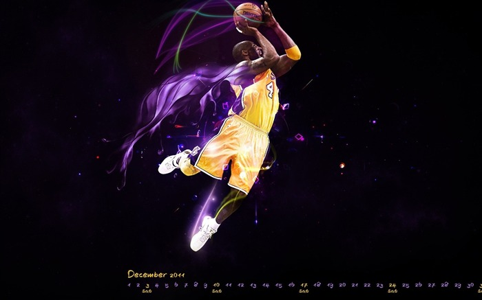Basketball kobe-December 2011-Calendar Desktop Wallpaper Views:12382