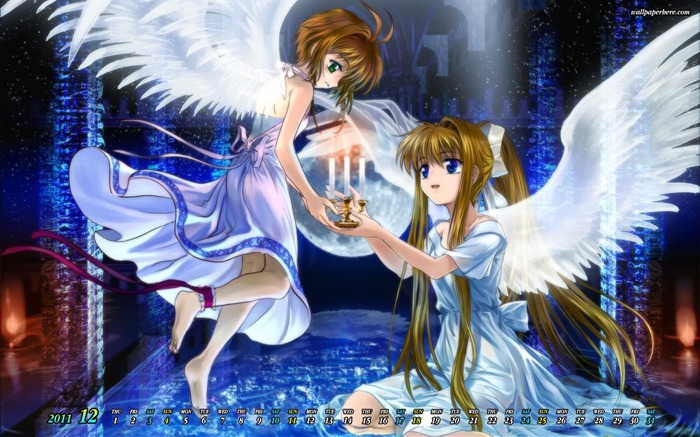 CardCaptor Sakura-December 2011-Calendar Desktop Wallpaper Views:9689