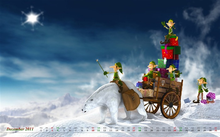 Christmas-December 2011-Calendar Desktop Wallpaper Views:4102