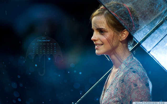 Emma Watson-December 2011-Calendar Desktop Wallpaper Views:6766