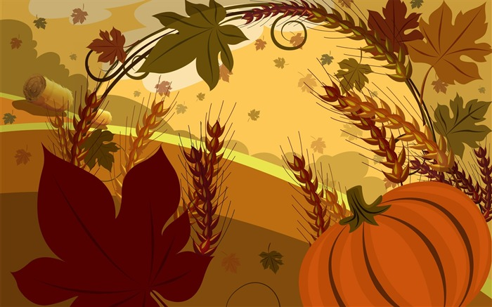 Farm-Thanksgiving day wallpaper illustration design Views:7299