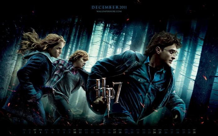 Harry Potter 7-December 2011-Calendar Desktop Wallpaper Views:17335