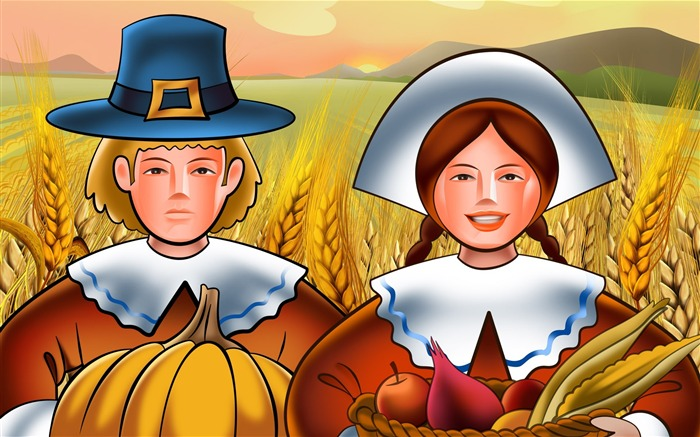 Harvest-Thanksgiving day wallpaper illustration design Views:7803
