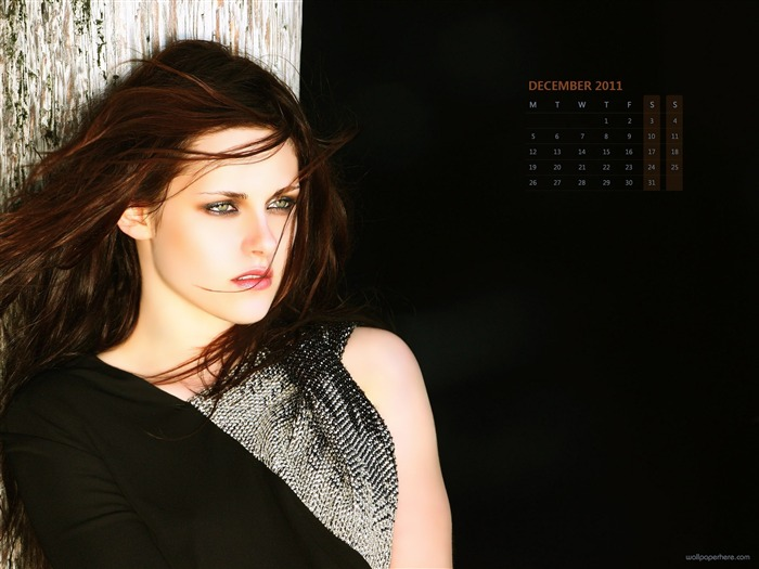 Kristen Stewart-December 2011-Calendar Desktop Wallpaper Views:5547