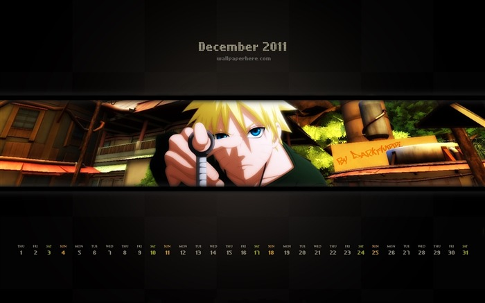 Naruto-December 2011-Calendar Desktop Wallpaper Views:3704