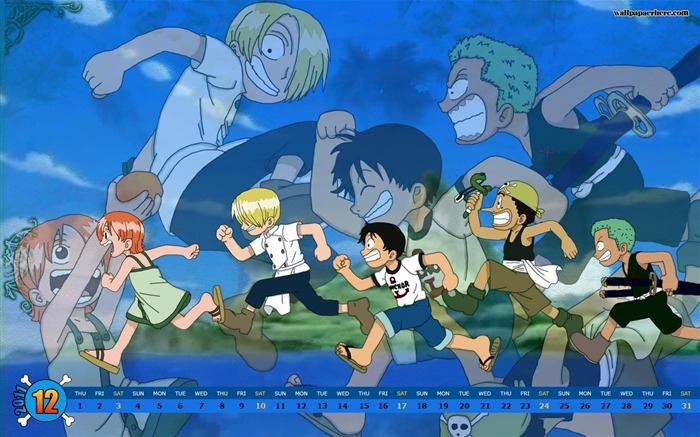 One Piece-December 2011-Calendar Desktop Wallpaper Views:13440