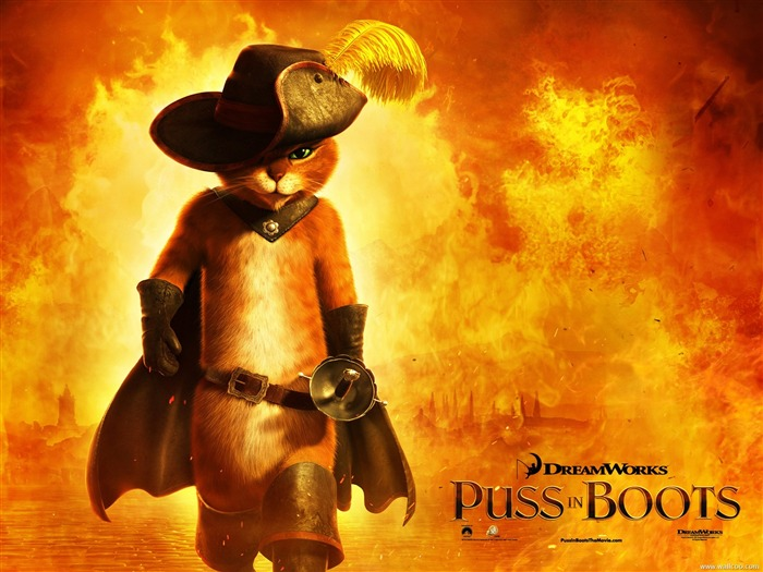 Puss in Boots-Anime Movie Desktop Wallpapers Views:6765