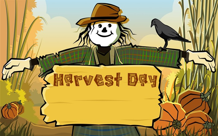Scarecrow Harvest festival-Thanksgiving day wallpaper illustration design Views:8531