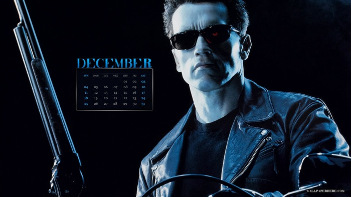 Terminator 2-December 2011-Calendar Desktop Wallpaper Views:6777