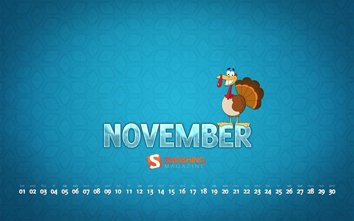 November 2011 - Calendar Desktop Wallpaper second series Views:12812