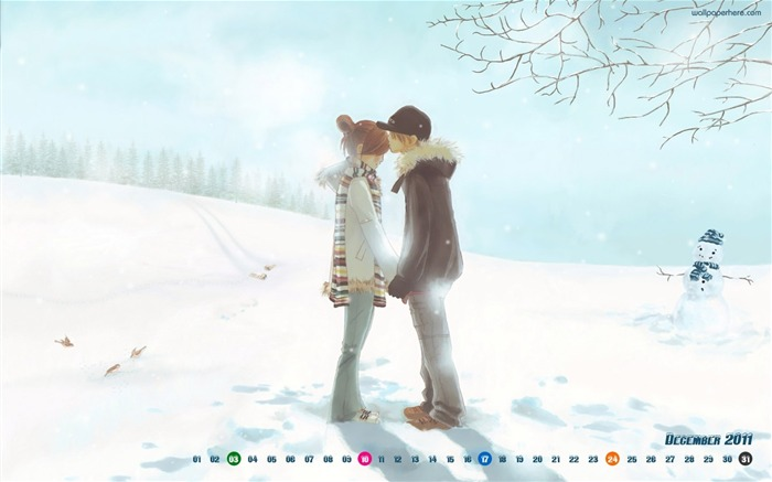 Warm Winter-December 2011-Calendar Desktop Wallpaper Views:3077